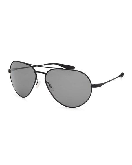 Barton Perreira Commodore Polarized Aviator Sunglasses, Black