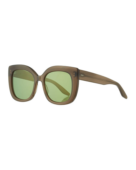 Barton Perreira Olina Chunky Mirrored Cat-Eye Sunglasses,
