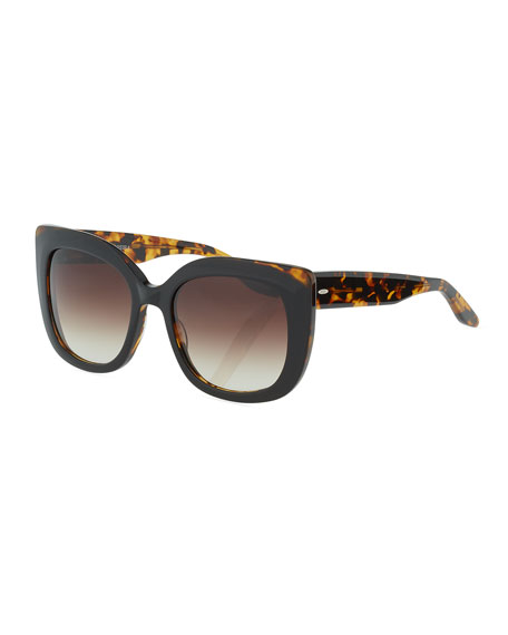 Barton Perreira Olina Chunky Cat-Eye Sunglasses, Black