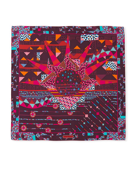 Oz Geometric Silk Scarf