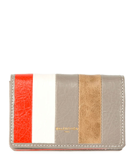 Bazar Striped Card Case