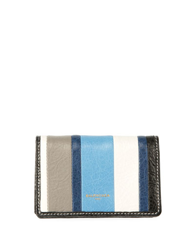 Bazar Striped Bi-Fold Card Case, Multi