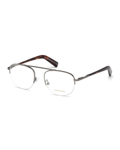 Metal Pilot Optical Frames, Gray