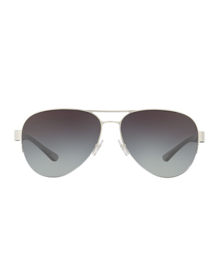 Mixed-Media Aviator Sunglasses