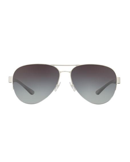 Mixed-Media Aviator Sunglasses