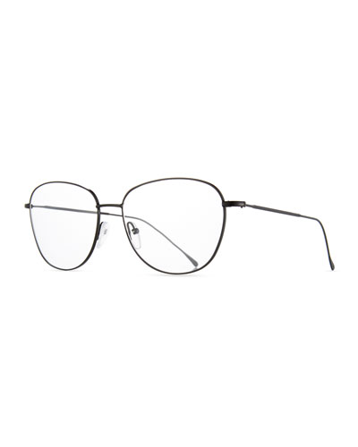 new york square optical frames black