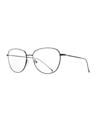 new york square optical frames black