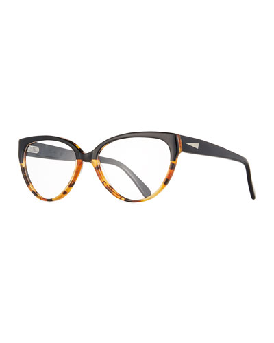 cannes cat eye optical frames blacktortoise