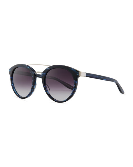 Dalziel Oval Sunglasses with Metal Bar