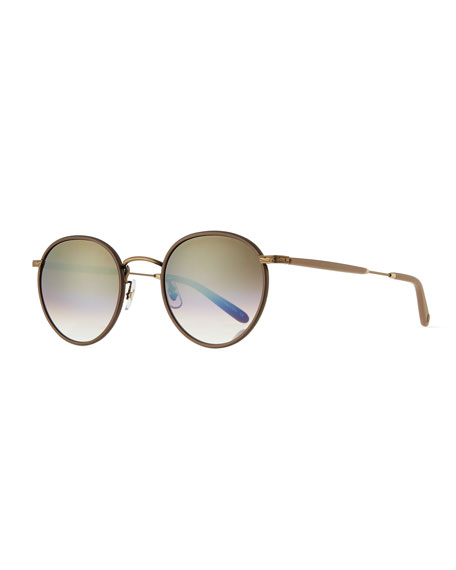 Garrett Leight Wilson 49 Gradient Round Sunglasses