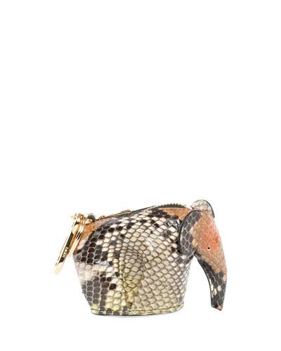 Python Elephant Bag Charm/Coin Purse