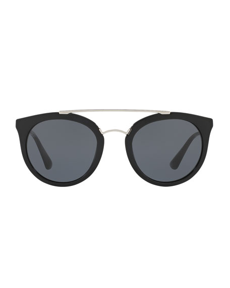 a897765c900 PRADA Monochromatic Double-Bridge Cat-Eye Sunglasses