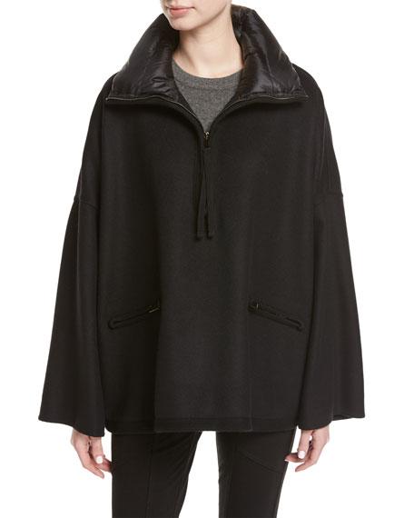 Moncler Maho Poncho Jacket, Black