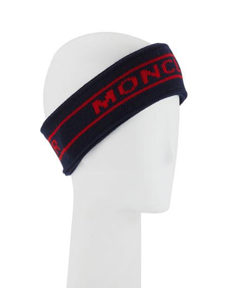 Wool Logo Knit Earwarmer