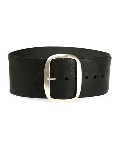 Tikky Wide Leather Waist Belt