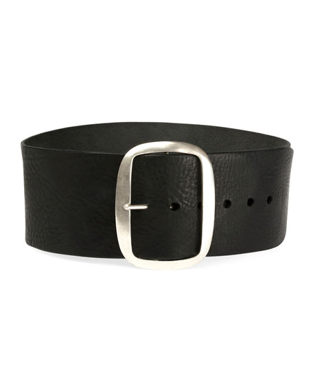 Tikky Wide Leather Waist Belt