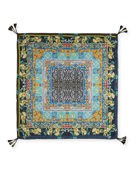 Sathya Printed Silk Scarf