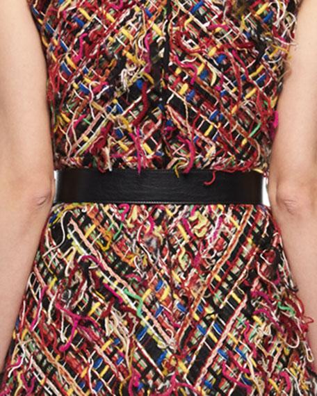 Extra-Long Leather Belt, Black