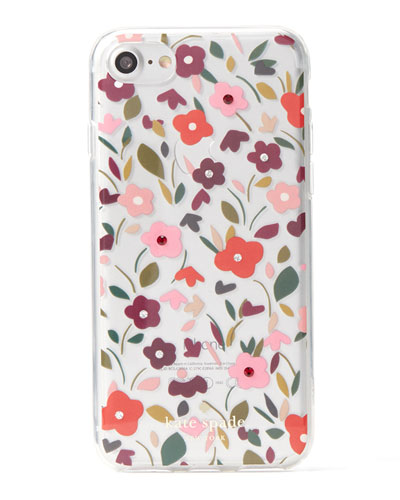 boho floral clear studded iphone 7 case