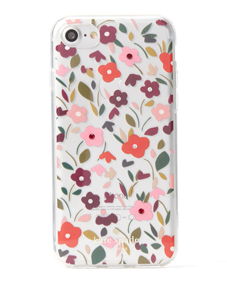 kate spade new york boho floral clear studded