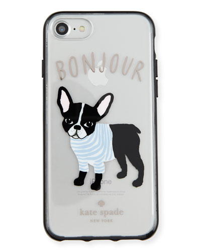 bonjour dog iphone 7 case, clear