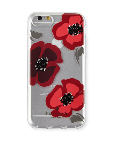 jeweled poppies clear iPhone 7 case