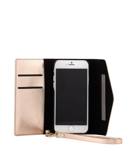 metallic envelope iPhone 7 wristlet wallet