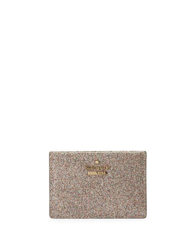 burges court glitter card holder