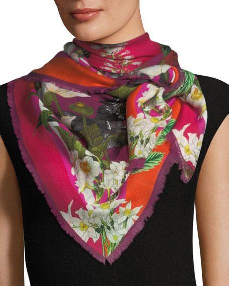 St. Piece Geraldine Wool Floral Print Scarf