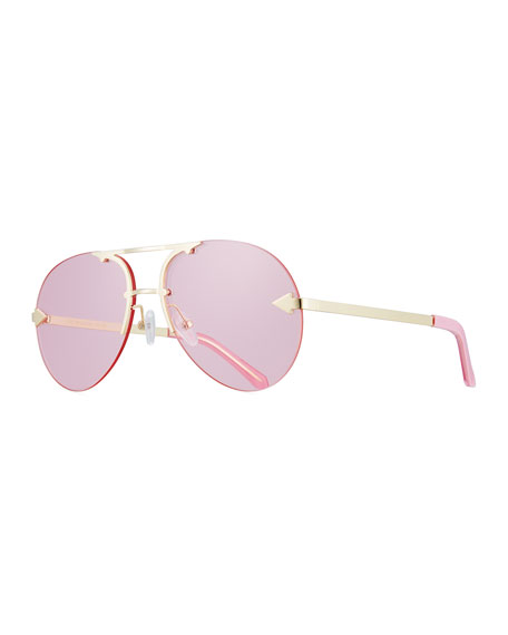 Karen Walker Love Hangover Semi-Rimless Aviator Sunglasses,