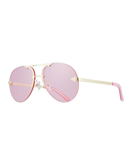 Karen Walker Love Hangover Semi-Rimless Aviator Sunglasses,
