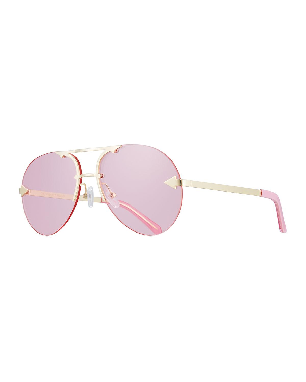89aef7a946b Karen Walker Love Hangover Semi-Rimless Aviator Sunglasses