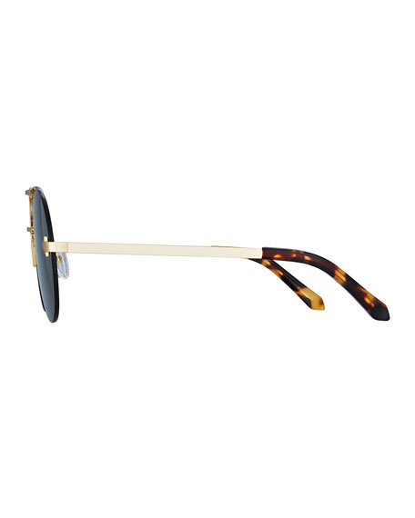Love Hangover Semi-Rimless Aviator Sunglasses