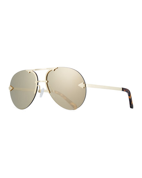 Karen Walker Love Hangover Semi-Rimless Aviator Sunglasses