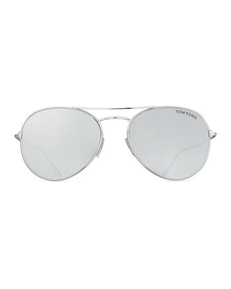 Ace Aviator Sunglasses, Silver