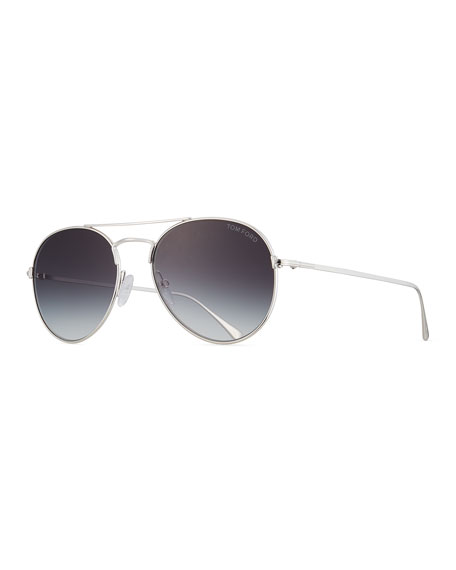 TOM FORD Ace Aviator Sunglasses, Gray