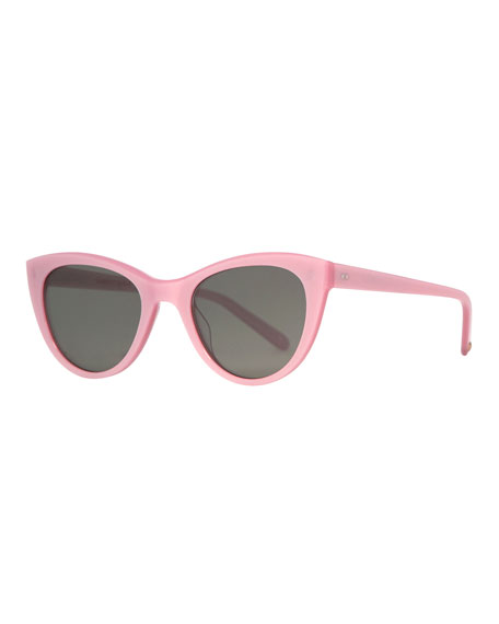 Garrett Leight Clare Vivier Cat-Eye Sunglasses, Blush