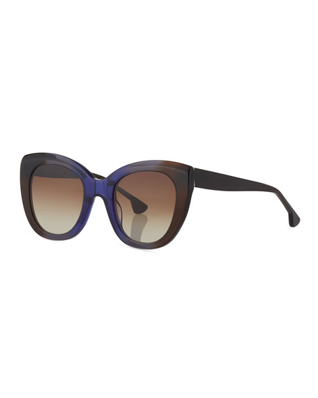 Alice + Olivia Mercer Cat-Eye Acetate Sunglasses