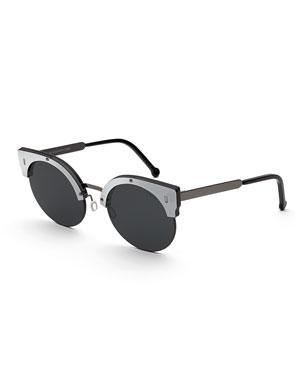 d4f44b3ef1 Super by Retrosuperfuture Era Semi-Rimless Cat-Eye Sunglasses