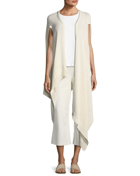 Cozy Organic Cotton-Blend Asymmetric Wrap