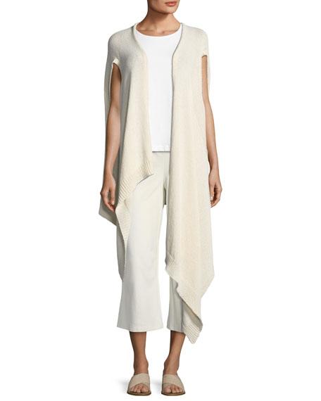 Cozy Organic Cotton-Blend Asymmetric Wrap, Plus Size