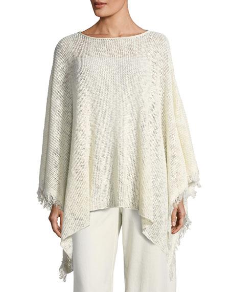 Eileen Fisher Peruvian Organic Cotton Nubble Poncho and