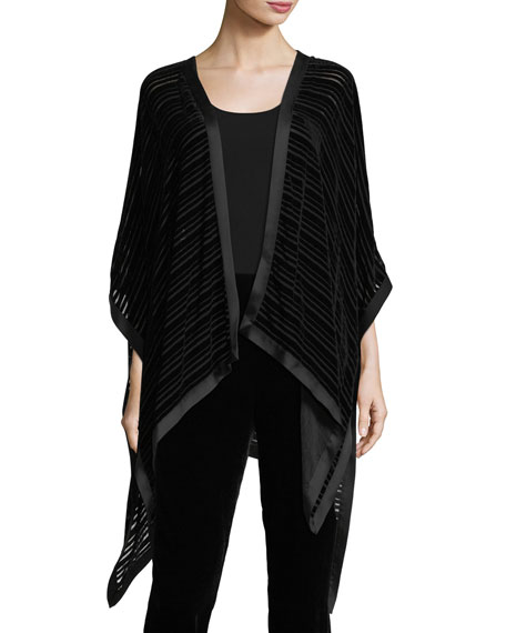 Eileen Fisher Striped Velvet Burnout Wrap and Matching