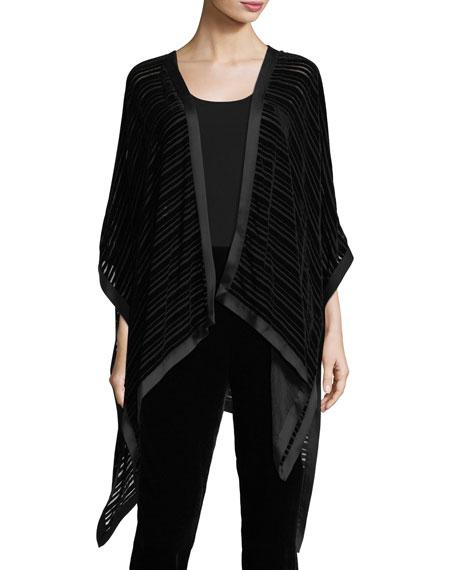 Eileen Fisher Striped Velvet Burnout Wrap
