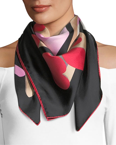 Marc Jacobs Geo Spots Square Silk Scarf