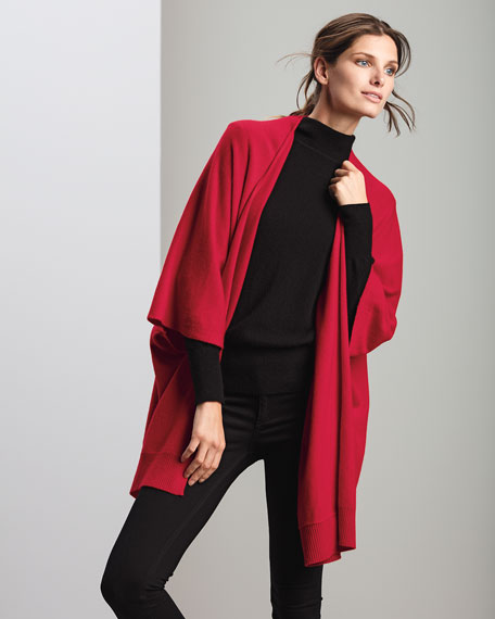 Neiman Marcus Cashmere Collection Cashmere Kimono Cardigan