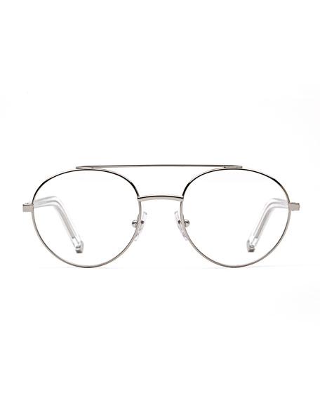 Numero 32 Aviator Metal Optical Frames, Silver