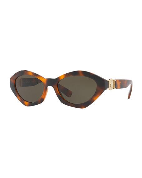 Versace Geometric-Frame Sunglasses