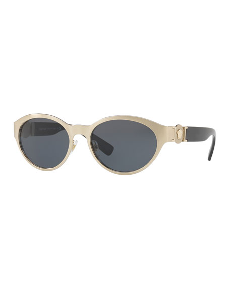 Versace Metal Oval Sunglasses