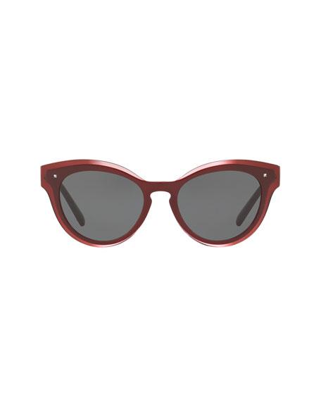 Monochromatic Oval Rockstud Sunglasses